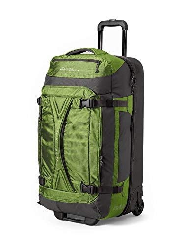 Eddie Bauer Unisex-Adult Expedition Drop-Bottom Rolling Duffel - Large, Green Re
