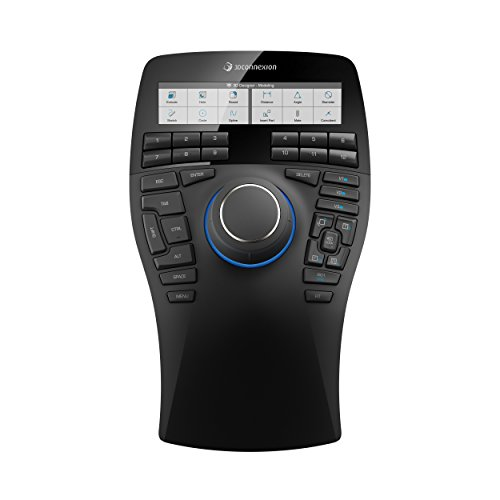 3Dconnexion SpaceMouse Enterprise (3D-Maus, kabelgebunden, LCD-Display, schwarz)