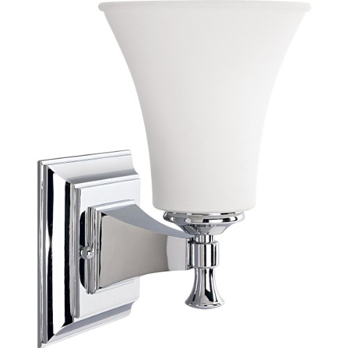 (Progress Lighting P3131-15 1-Light Bath Bracket, Polished Chrome)