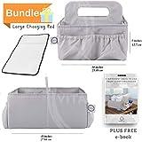 Diaper caddy organizer & changing pad- easy storage...
