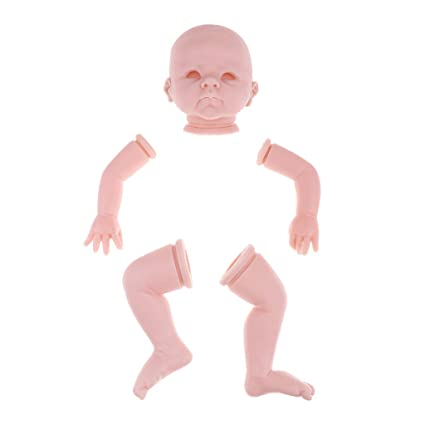 Lifelike 22inch Reborn Kits Unpainted Baby Doll with Head 3//4 Arms Full Legs