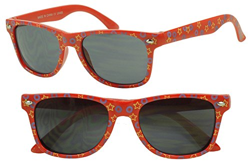 Sunglass Stop- Kids Fun Party Wayfarer Colorful Star Sunglasses Costume Shades - Ray Wayfarer Band