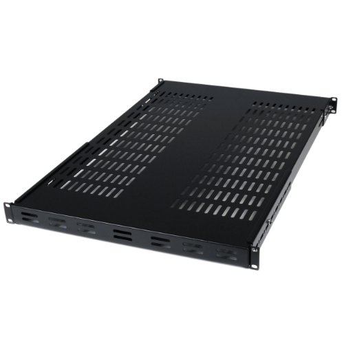 - StarTech.com 1U Adjustable Mounting Depth Vented Rack Mount Shelf - 175lbs / 80kg - Fixed Server Rack Shelf