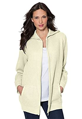 Roamans Women's Plus Size Fabulous Thermal Hoodie
