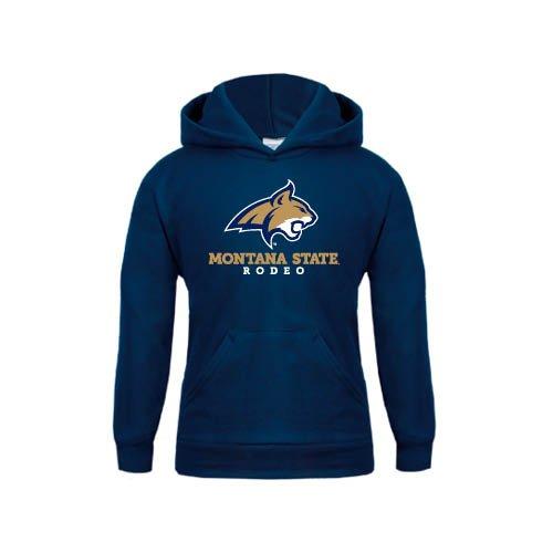 Montana State Youth Navy Fleece Hoodie Rodeo