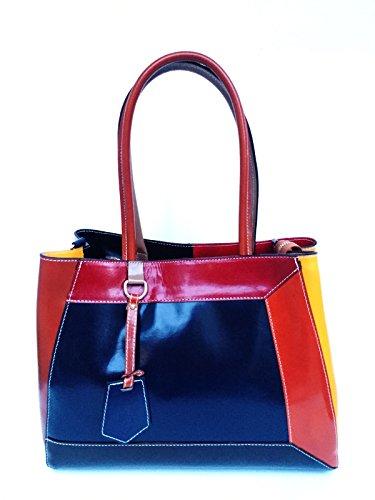 Bolso Amarillo Al Superflybags Hombro L Y Para Mujer Rojo RdzxqA8