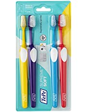 TePe Supreme tandenborstel voor volwassenen met langere filamenten en veilige grip - Effectieve plaque verwijdering voor schonere tanden