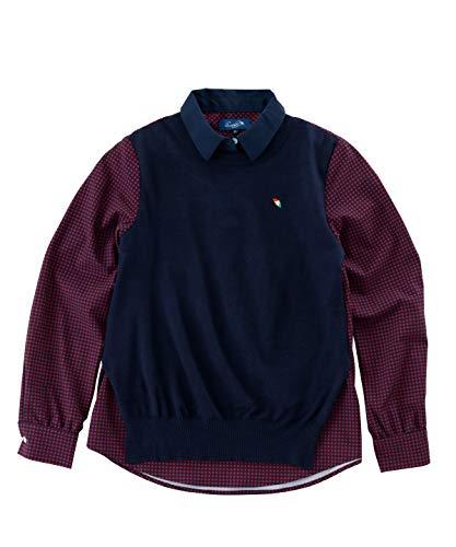 アーノルドパーマー ゴルフウェア 長袖シャツ レディース 重ね着風長袖シャツ AP220402H03 ギンガムチェック L
