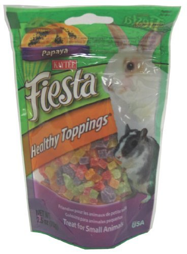 Kaytee Fiesta Guinea Pig (Kaytee Fiesta Healthy Toppings Papaya Treat for Small Animals, 2.5-oz bag)