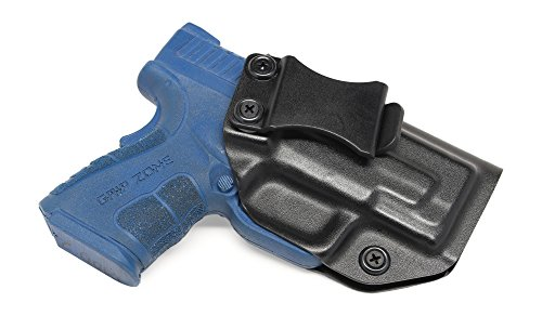 """Concealment Express IWB KYDEX Holster: fits Springfield XD MOD.2 3"""" 9MM/.40SW - Custom Fit - US Made - Inside Waistband - Adj. Cant/Retention (BLK, Left)"""