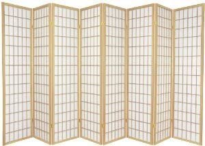 Japanese Oriental Style Room Screen Divider Natural 8 Panel
