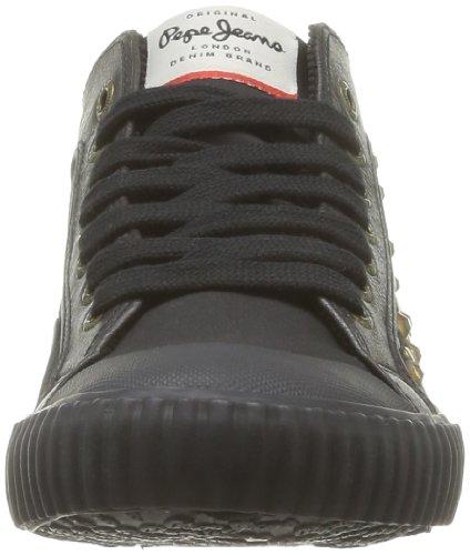Zapatillas Deporte Industry Black Noir de mujer 999 Pepe de Jeans tela negro BIEqqUnT