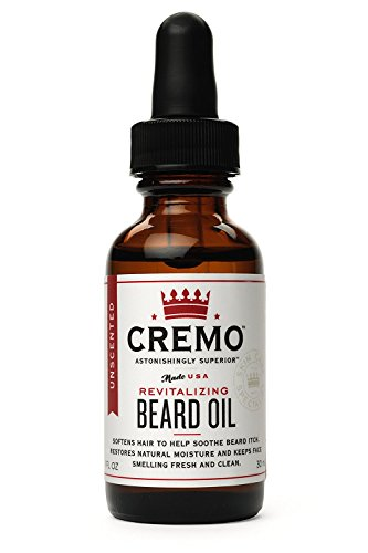 Cremo Beard Oil, Unscented, 1 Ounce- Restores Moisture, Softens and Reduces Beard Itch for All Lengths of Facial Hair