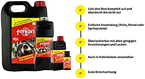 Fertan Rostentferner Rostkonverter Der Perfekte Rostumwandler Inkl Pinsel Von E Com24 Fertan 30 Ml Baumarkt