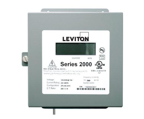 Leviton 2N480-41 Series 2000 Three Phase Meter (3 Phase Meter)
