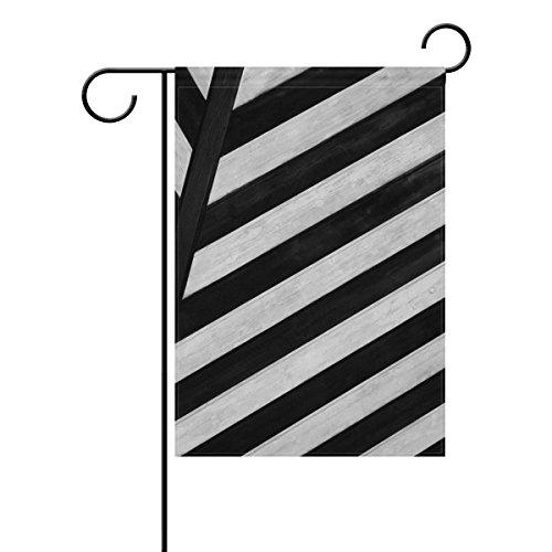 """LEISISI Black And White Lines Symmetry Garden flag 28""""X40"""" T"""