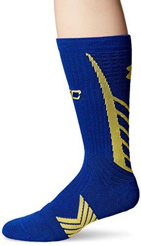 Under Armour Men's Undeniable Crew Sock Steph Curry Edition Socks, Royal Blue, Medium