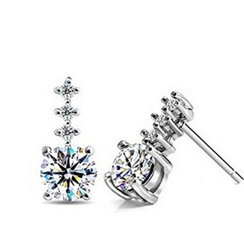 ER-20147C1 New Style Silver Plating Women's Earring (Clutch Cristal)