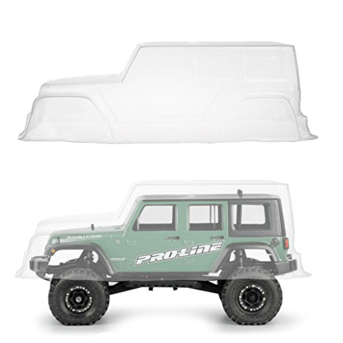 Cicitop 1/10 PVC Jeep Wrangler Body Shell Transparent, RC Car Shells Wheel Base 313mm for Axial 1/10 Jeep Wrangler