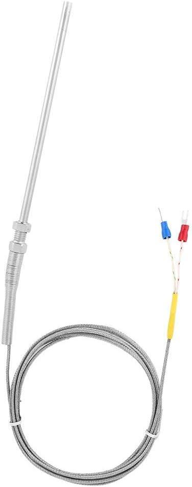 Industria Tessile Probe 200mm Sensore di Temperatura della Sonda Termocoppia Sonda Tipo K Sensore di Temperatura in Acciaio Inossidabile Filettato M8 da 2 m per Macchinari per la Plastica
