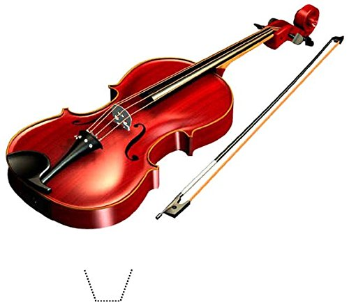 Novelty Violin / Fiddle 12 Edible Stand up wafer paper cake toppers (5 - 10 BUSINESS DAYS DELIVERY FROM UK)