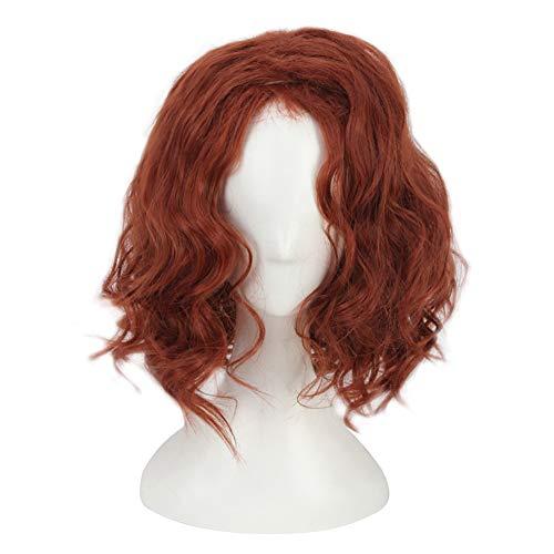 WKS Long Brown-Red Wig Costumes For Women Heroine Cosplay -