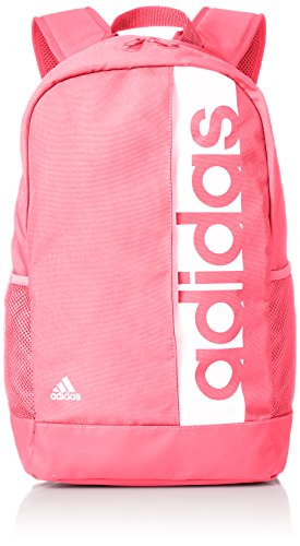 adidas Linear Performance Backpack (One Size, Real Pink/White)