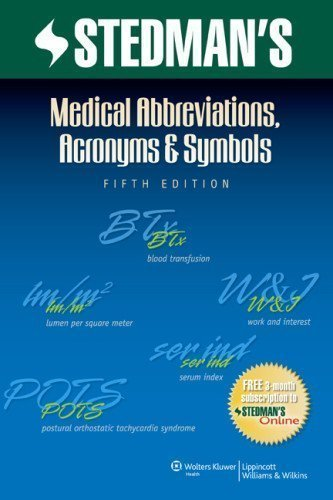 Stedman's Medical Abbreviations, Acronyms & Symbols (Stedman's Abbreviations, Acronyms & Symbols) (Paperback) - Common