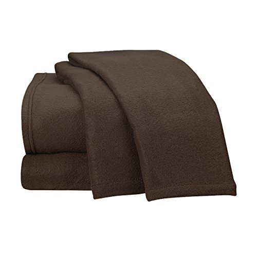 Fancy Collection Super Soft 4 Pc Sheet Set Micro Polar Fleece Bed Sheet Set King,Dark Brown