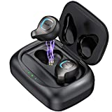 Wireless Earbuds Bluetooth Headphones in-Ear Bluetooth Headset Auto Pairing Wireless Earphones Waterproof Bluetooth 5.0 80H Playtime Deep Bass Stereo Hi-Fi Sound with 2200mAh Charging Case