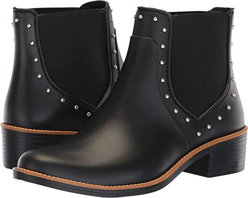 Bernardo Women's Peyton Rain Boot Black Rubber 9 M US
