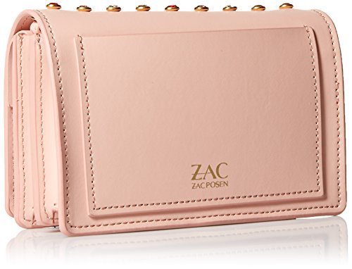 Zac Posen ZAC Earthette Crossbody Rose Rose Accordion wxOZqOdT