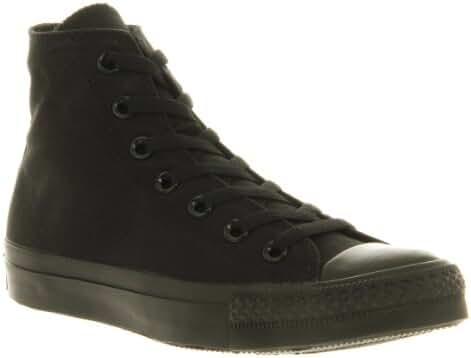 Converse Unisex Chuck Taylor All Star Hi Top Sneakers (7.5 B(M) US Women / 5.5 D(M) US Men, Black Monochrome)