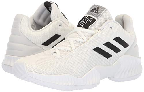 Image of the adidas Men's Pro Bounce 2018 Low Basketball Shoe Black/Crystal White, 10.5 M US