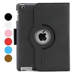 conseguir Estuche de 4 Pliegues con Soporte para el Nuevo iPad e iPad 2 - Colores Surtidos , Negro