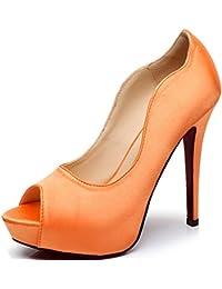 New Peep Toe Satin Wedding Platforms Stiletto Evening Shoes Dress Pumps Bridal  Shoes Heels