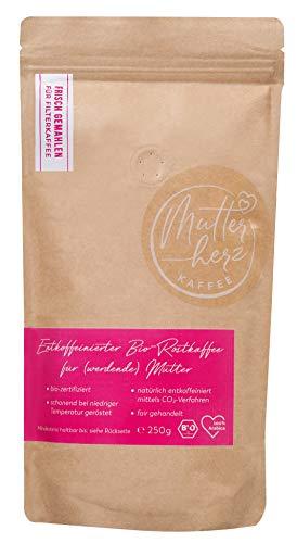 MUTTERHERZ KAFFEE - frisch gemahlen - entkoffeinierter Bio-Röstkaffee ideal für (werdende) Mütter - 250 Gr