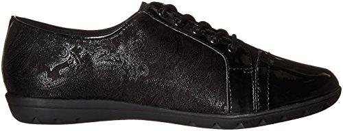 Black pour Lacets Gris de Puppies Femme Ville Patent Paisley Gris Black à Faux Hush Chaussures Suede qw86XxYxp