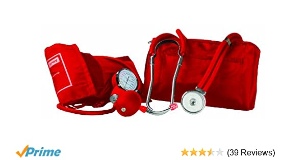Amazon.com: Primacare DS-9181-RD Professional Blood Pressure Kit, Includes an Aneroid Sphygmomanometer and Sprague Rappaport Stethoscope, ...