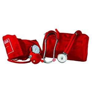 Primacare Medical DS-9181-R - Tensiómetro de brazo manual, color rojo 5
