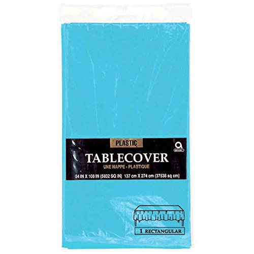 Caribbean Blue Rectangular Plastic Table Cover | Party Tableware
