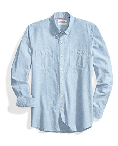 Amazon Brand – Goodthreads Men's Slim-Fit Long-Sleeve Chambray Shirt