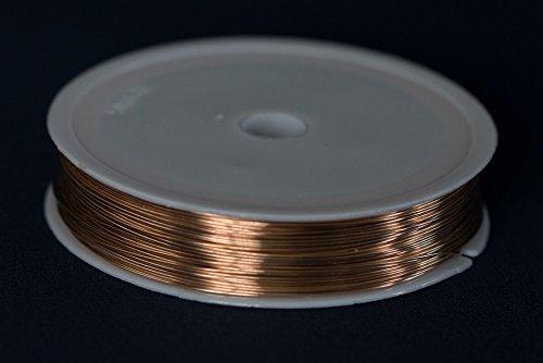 Craft And Jewellery Making 0.4mm Unplated Round Bronze Wire x 20m 26ga