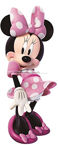 Mouse Wallpapers Minnie (11 Inch MINNIE MOUSE BOW Mickey Removable Wall Decal Sticker Art Disney Home Decor 4 inches wide by 10 1/2 inches tall)