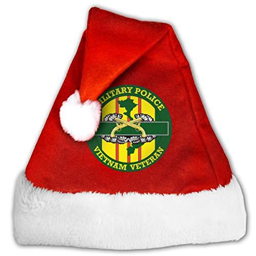 Military Police Vietnam Veteran Christmas Santa Hat for Adult & Children