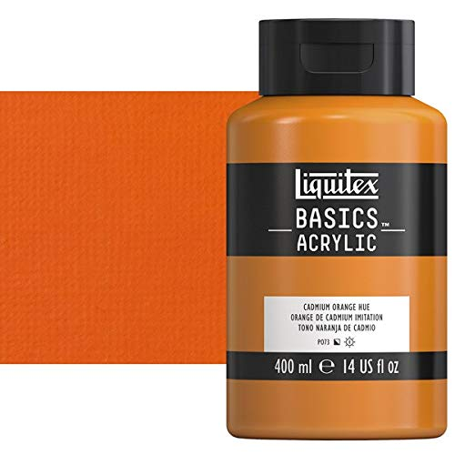 - Liquitex BASICS Acrylic Paint, 13.5-oz bottle, Cadmium Orange Hue