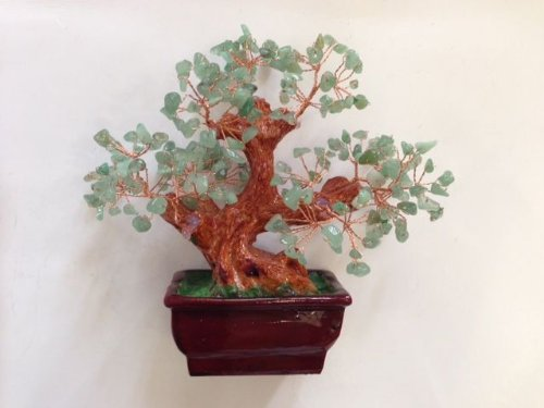 Natural Jade Gem Stone Money Tree Feng Shui