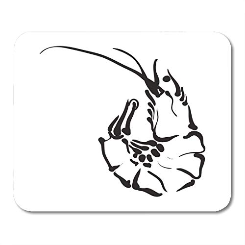 artoon Pink Cooked Shrimp in White Animal Color Mouse Pad for notebooks,Desktop Computers mats 9.5