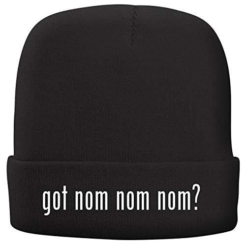 got nom nom nom? - Adult Comfortable Fleece Lined Beanie, Black