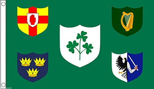 Ireland Rugby Union 4 Province Flag 5'x3' (150cm x 90cm) - Woven Polyester